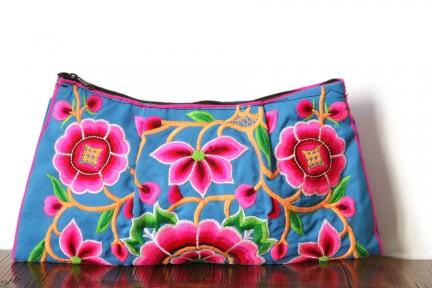 Sac pochette à main de créateur bohème à fleurs hippie
