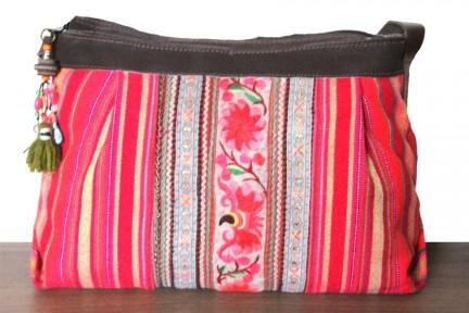 Besace sac à bandoulière en cuir naturel artisanal fait main