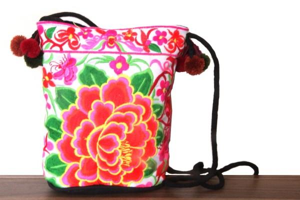 Petit sac mode vert anis et rose pour femme