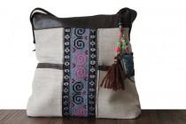 Mini leather women's handbag with shoulder strap
