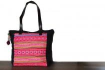 Fuchsia pink handbag