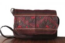 Ethnic clutch bag with shoulder strap