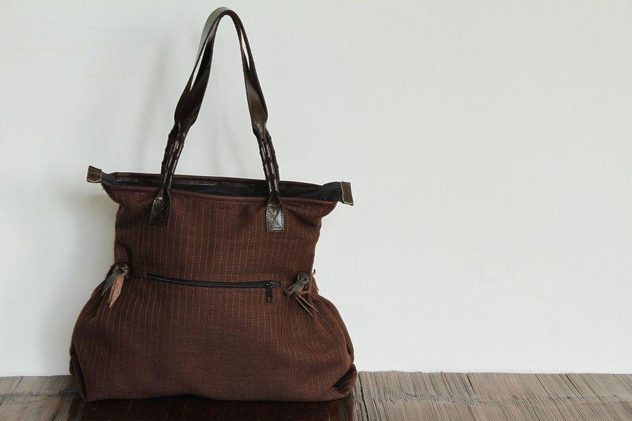 sac original cuir et tissu femme. Black Bedroom Furniture Sets. Home Design Ideas