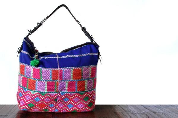 Grand sac ethnique artisanal
