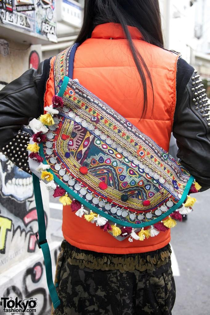 sac avec doudoune