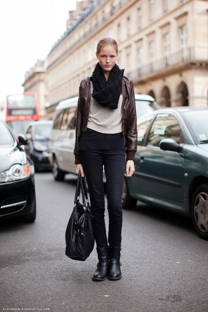 sac avec veste cuir