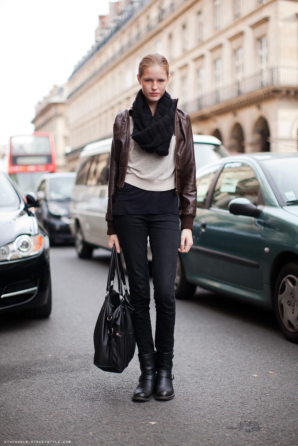 Avec quoi porter veste cuir marron