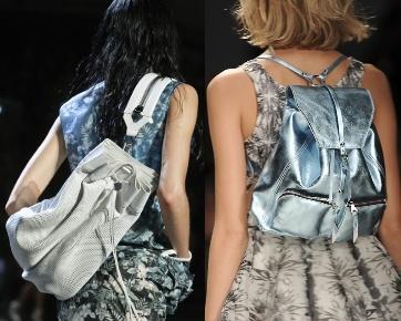 Femme avec leur sac à dos