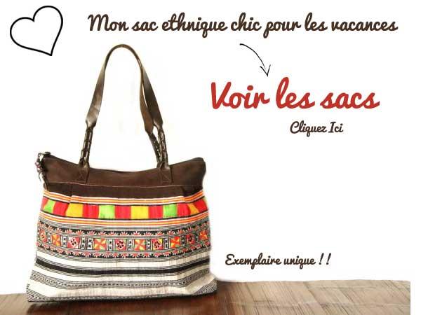 sac de plage ethnique chic et original
