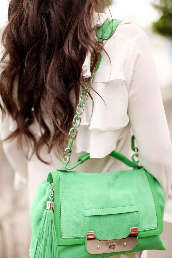 avec quoi porter sac vert