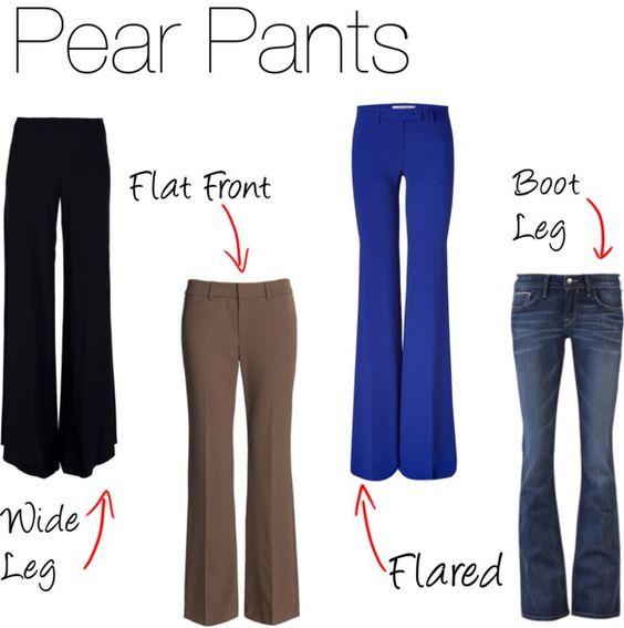 différentes pantalons parfait avec un morphologie en V