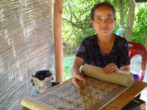 Craftmen du Miao Ethnic Shopping Bag